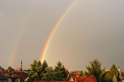 Regenbogen über Mannheim-Seckenheim
