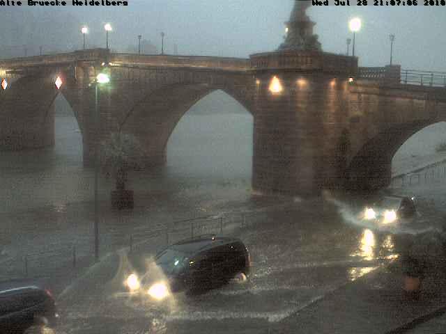 Gewitter über Heidelberg